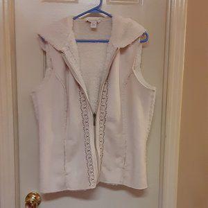 Lucy & Laurel Faux Suede & Fur Hooded Vest